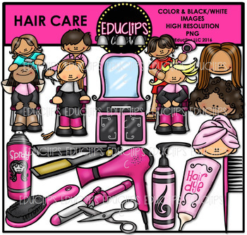 Hair Care Clip Art Bundle {Educlips Clipart}