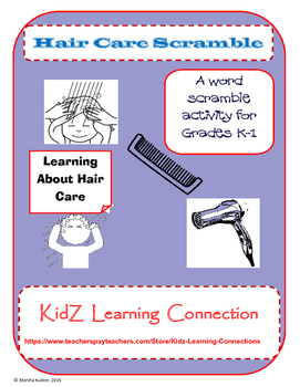 Healthy Habits: Hair Care Word Scramble