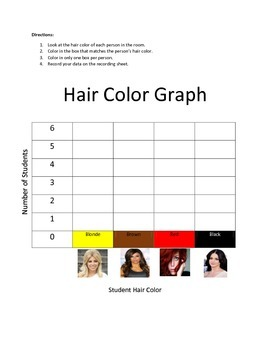 Hair Color Graph and Recording Sheet
