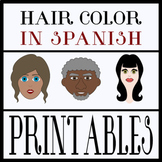 Hair Color in Spanish Printables (PNG and PDF)