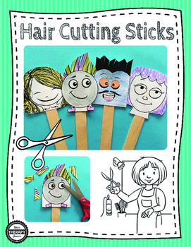 Hair Cutting Scissors Packet - Scissor Skills and Pretend Play