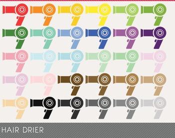 Hair Drier Digital Clipart, Hair Drier Graphics, Hair Drier PNG
