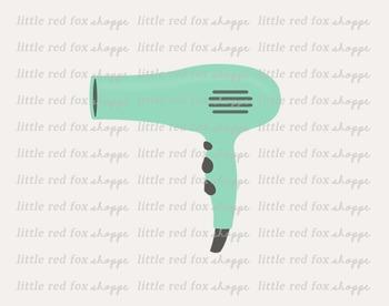 Hair Dryer Clipart; Hairdryer, Blow Dryer, Blowdryer