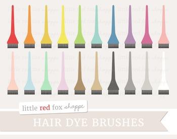 Hair Dye Brush Clipart; Hair, Beauty