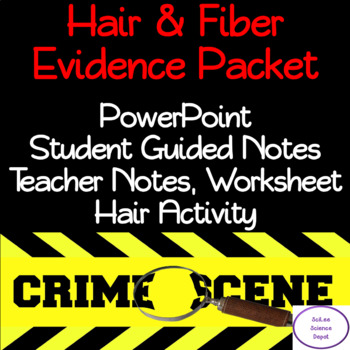 Hair & Fiber Evidence Packet: PowerPoint, Student Guided Notes, Activity