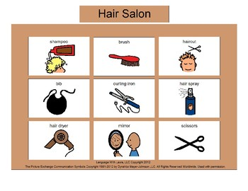 Hair Salon Bingo! Single Board [speech therapy and autism]