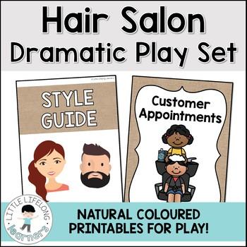 Hair Salon Dramatic Play - Natural Burlap