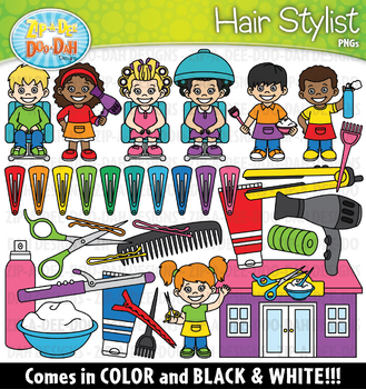 Hair Stylist Community Helpers Clipart {Zip-A-Dee-Doo-Dah Designs}
