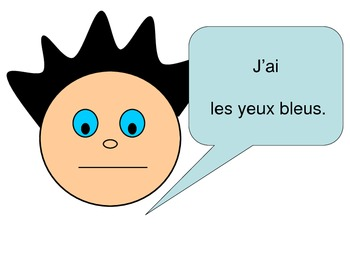 Hair and eye colour in French: All about me