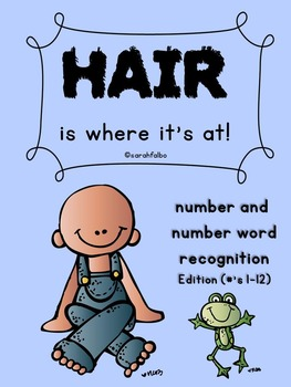 Hair is Where it's At--Number and Number Word Recognition Edition