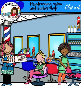 Hairdressing salon and barbershop- Big set of 107 graphics!