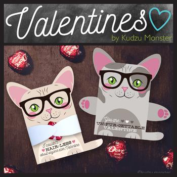 Hairless Cat Valentine Treat Hugger