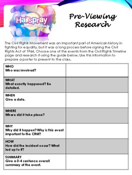 Hairspray Movie - Civil Rights Research