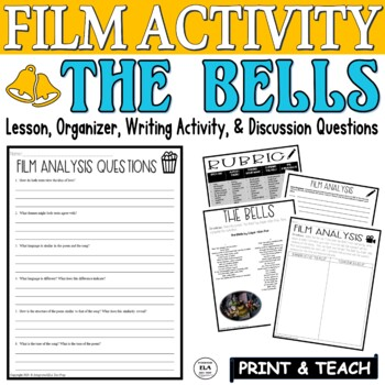 """Hairspray's """"Bells"""" Song & """"The Bells"""" by Poe Song and Poetry Pairing Activity"""