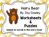 """Worksheets for use with """"Hairy Bear"""" Book"""