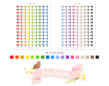 Hairy Dryer Printable Planner Stickers