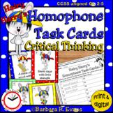 HOMOPHONE TASK CARDS: Hairy Harry's