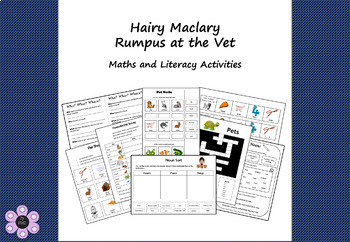 Hairy Maclary's Rumpus at the Vet - Maths and Literacy Activities