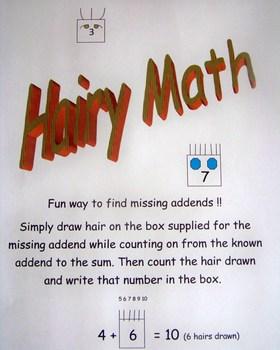 Hairy Math - Missing Addend Fun!
