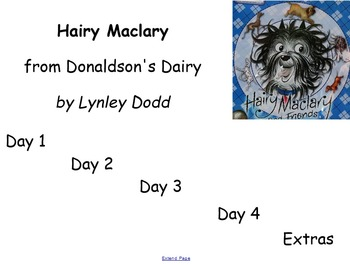 Hairy Maclary Guided Reading Weekly Lesson Plan - Four Blo