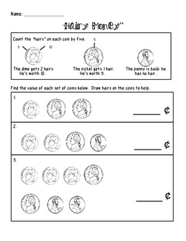 hairy money worksheet by lindsey cagle teachers pay teachers. Black Bedroom Furniture Sets. Home Design Ideas