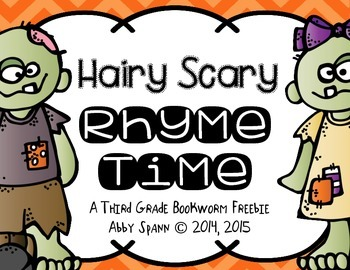 Rhyming Words FREEBIE {Halloween}