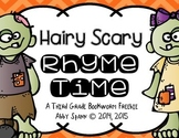 Hairy Scary Rhyme Time {FREEBIE}