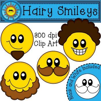 Hairy Smiley Face Clip Art