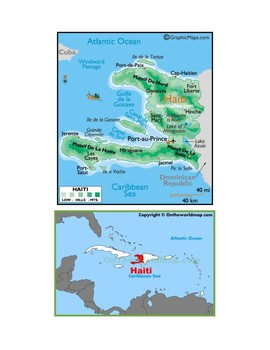 Haiti Map Scavenger Hunt