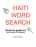 Word Search - Haiti - Social Studies Activity