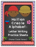 Haitian Creole Alphabet: Letter Writing Practice Sheets-Single Words (Haiti)