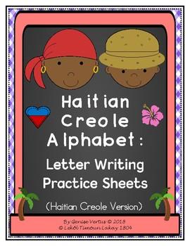 Haitian Creole Alphabet: Letter Writing Practice Sheets-Single Words (Haiti)