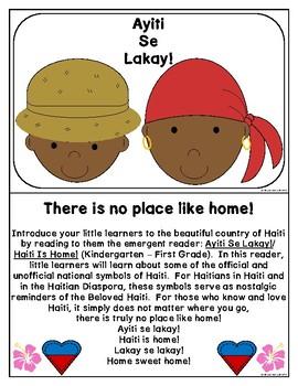 Haitian Heritage Month: Haiti is Home Retelling Sheets (HT) (K-1) (b/w)