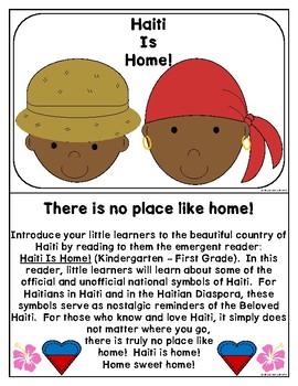 Haitian Heritage Month: Haiti is Home Coloring-Writing Practice Sheets (EN) k-1