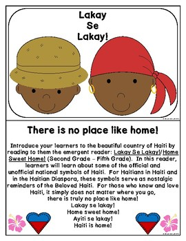 Haitian Heritage Month: Home Sweet Home Coloring-Writing Practice Sheets HT 2-5