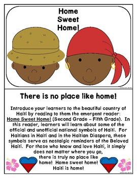 Haitian Heritage Month: Home Sweet Home Emergent Reader (EN) (Haiti) (2-5) (b/w)