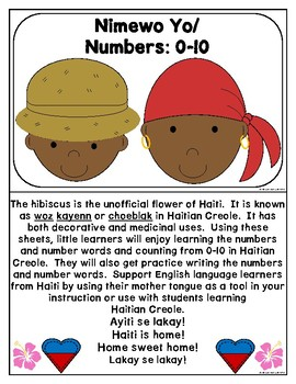 Haitian Heritage Month: Numbers 0-10 Recognition/Counting/Writing Practice