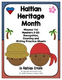 Haitian Heritage Month: Numbers 0-20 Recognition/Counting/Writing Practice