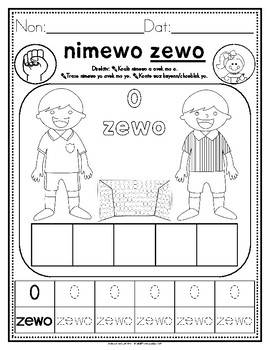 Haitian Heritage Month: Numbers 0-5 Recognition/Counting/Writing Practice Sheets