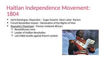 Haitian, Mexican, and Brazilian Indy Mov. PowerPoint, Guided/Completed Notes