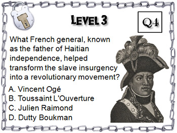 Haitian Revolution Activity: Social Studies Escape Room History