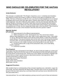 Haitian Revolution Role Play