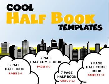 Half Book Templates