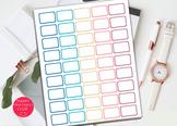 Half Box Planner Stickers Template