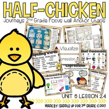 Half Chicken Focus Wall Anchor Charts and Word Wall Cards