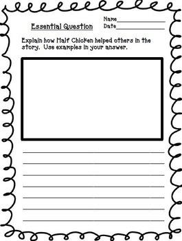 Half Chicken Journeys 2nd Grade Unit 5 Lesson 24 Activities & Printables