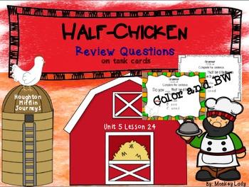 Half-Chicken Review Task Cards for Houghton Mifflin Journeys