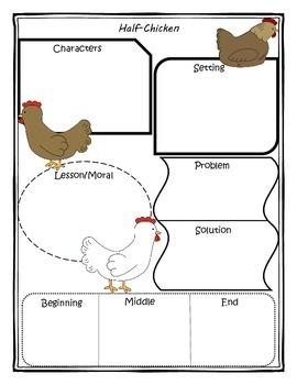 Half Chicken Story Map Graphic Organizer