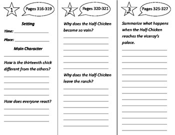 Half Chicken Trifold - Journeys 2nd Grade Unit 5 Week 4 (2014, 2017 Common Core)