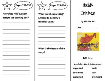 Half Chicken Trifold - Storytown 3rd Grade Unit 4 Week 4